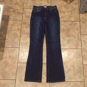 Boston proper dark flare jeans bling 4